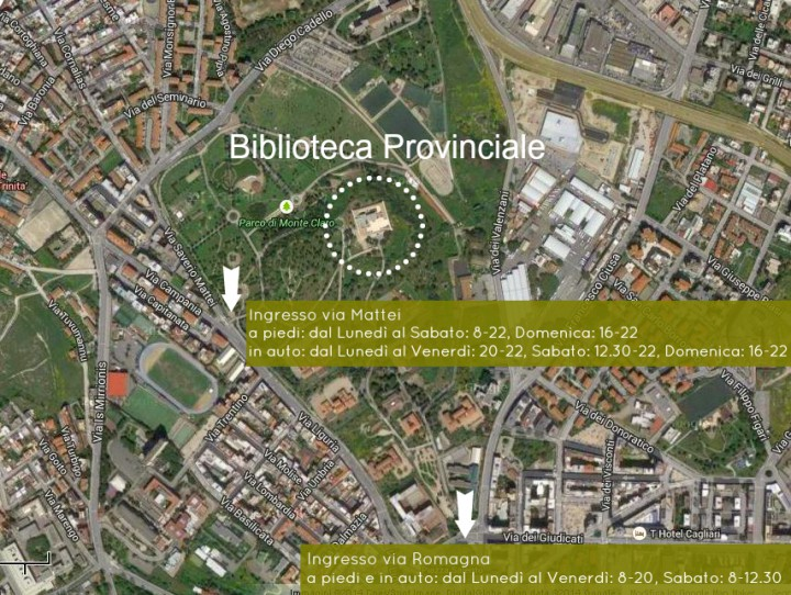 vista satellitare biblioteca