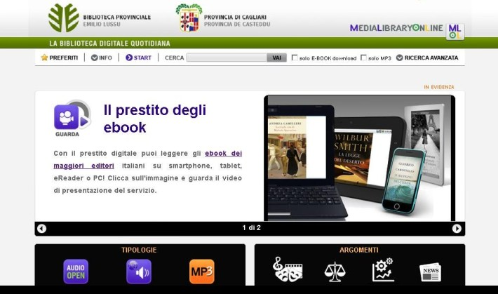 home biblioteca digitale